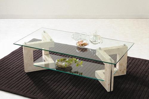 ... 】ガラステーブル MS-2 家具