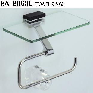 タオルリング(小物棚付き) BA-8060C                                                            オーダーメイド ガラス・ドアの専門店 D+kuru