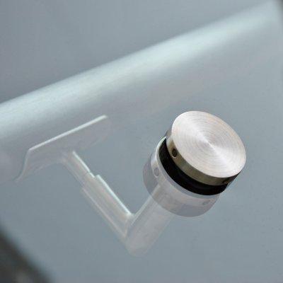画像1: ステンレスガラス用手摺ブラケット(首振りタイプ)