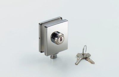 画像1: ガラスドア用錠
