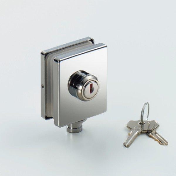 画像1: ガラスドア用錠 (1)