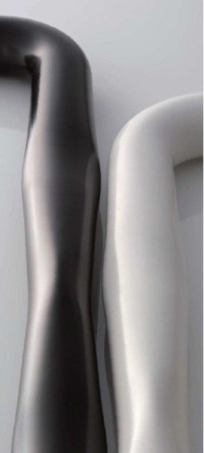 画像3: ステンレス 樹脂コーティングマットブラックハンドル(両側タイプ)/全長:452mm