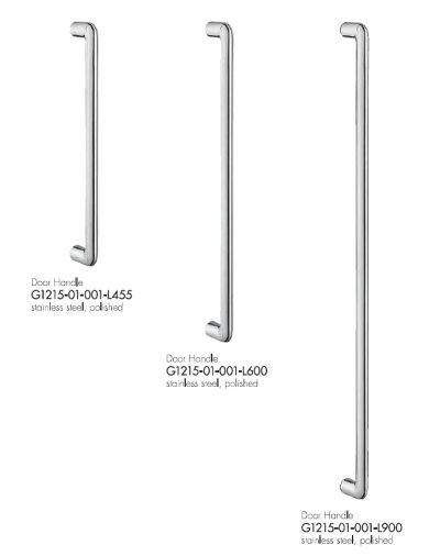 画像1: ステンレス ミラー/ヘアラインハンドル(両側タイプ)/全長:900mm