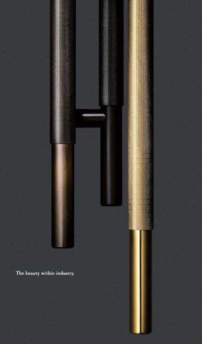 画像2: ブラス ミラーハンドル(両側タイプ)/全長:600mm