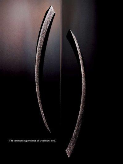 画像2: ユニキャスト ユニフロストブラックハンドル /1セット(内外)/全長:680mm
