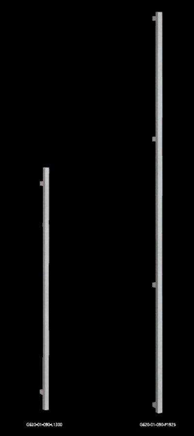 画像2: ステンレス ストーンブラストハンドル(両側タイプ)/オーダータイプ
