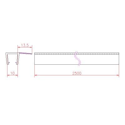 画像3: エッジシール OT-H630N/ガラス厚10mm、8mm用/長さ:2.5m×2本