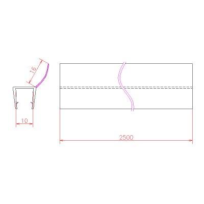 画像3: エッジシール OT-H670N/ガラス厚10mm、8mm用/長さ:2.5m×2本