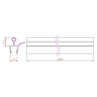 画像3: エッジシール OT-H680N/ガラス厚10mm、8mm用/長さ:2.5m×2本