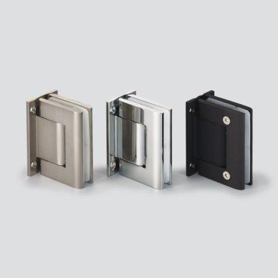 画像1: ソフトクロージング機構付ガラスドア用自由丁番 M8010型 壁取付タイプ 2個セット