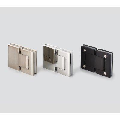 画像1: ソフトクロージング機構付ガラスドア用自由丁番 M8015型 ガラス取付タイプ 2個セット