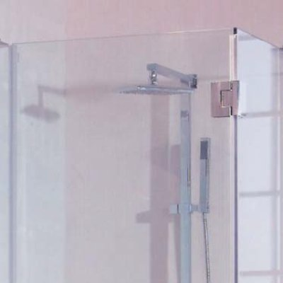 画像1: ステンレスガラス用調整ヒンジ/90°隣接ガラス板取付タイプ