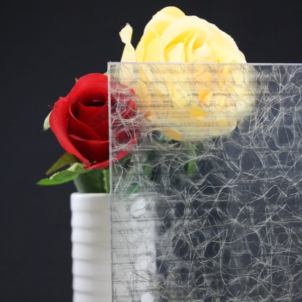 画像1: 和紙合わせガラス ライトグレー (1)