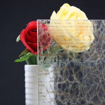 画像1: 和紙合わせガラス オレンジ×ホワイト
