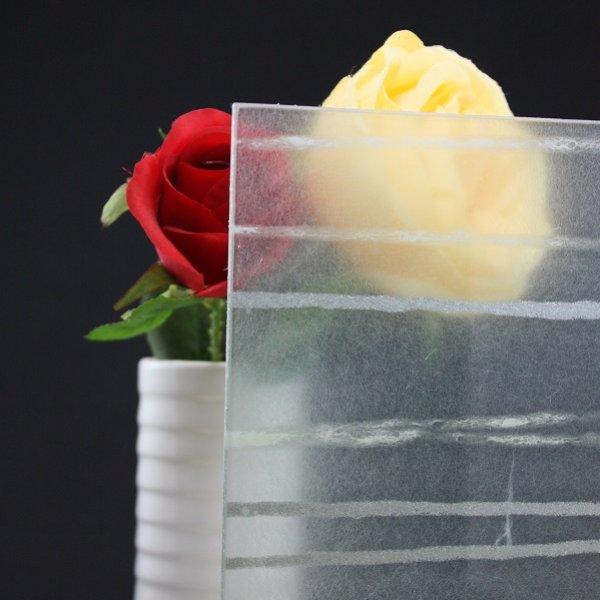 画像1: 和紙合わせガラス ライン(シルバー) (1)