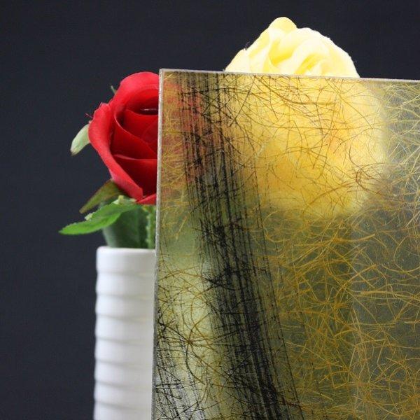 画像1: 和紙合わせガラス イエロー (1)