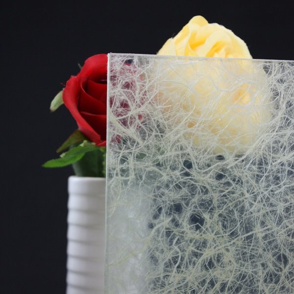 画像1: 和紙合わせガラス ホワイト (1)
