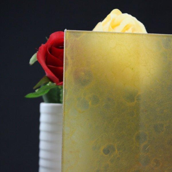 画像1: 和紙合わせガラス オレンジ (1)
