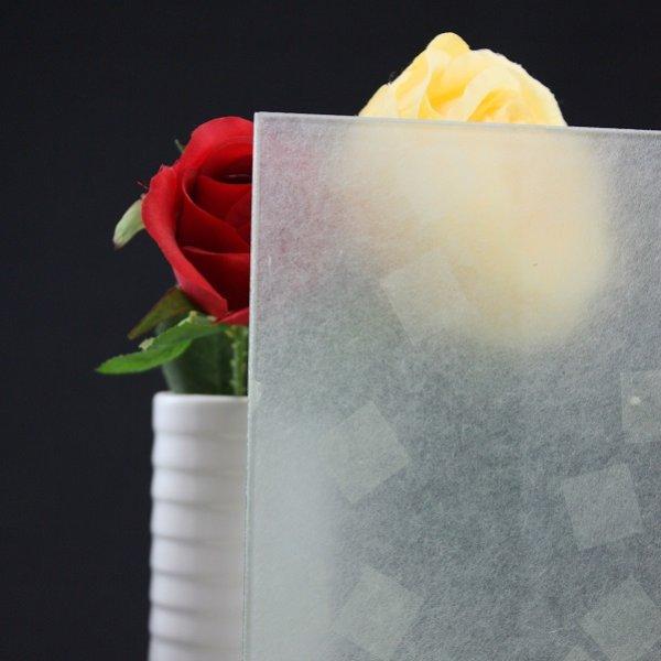 画像1: 和紙合わせガラス 小角 (1)