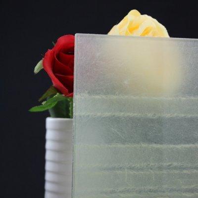 画像1: 和紙合わせガラス 横波(ホワイト)