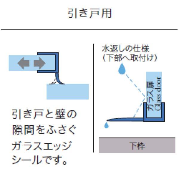 画像1: エッジシール OT-H630N/ガラス厚10mm、8mm用/長さ:2.5m×2本 (1)