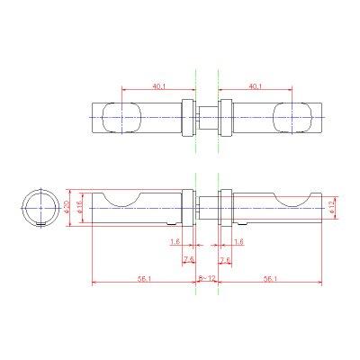 画像2: ステンレスガラス用ローブフック(両側タイプ)