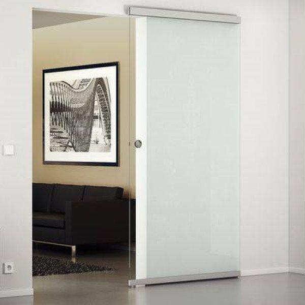 画像1: レールの見えないガラス引戸(デザイン80-M マジック ) (1)