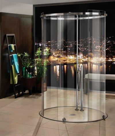 画像2: ガラス円柱シャワーブース引戸 テラ
