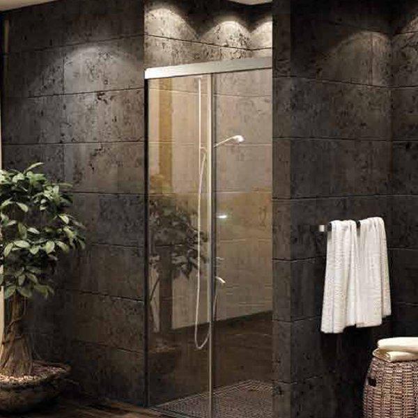 画像1: 浴室・シャワー室ガラスドア(壁取付タイプ) (1)