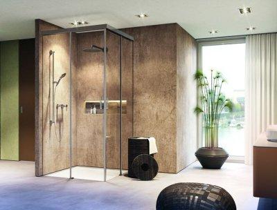 画像3: シャワー室ガラスドア(コーナー取付タイプ)