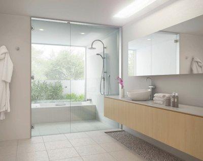 画像1: 浴室のガラスドアセット  D+kuru-M85タイプ
