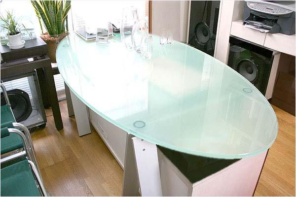画像1: オーダーガラステーブル「D+kuru(ディークル)」 (1)