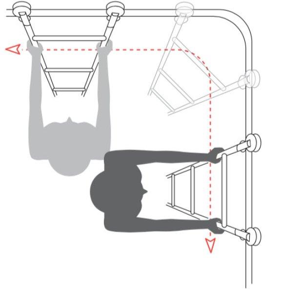 コーナー梯子