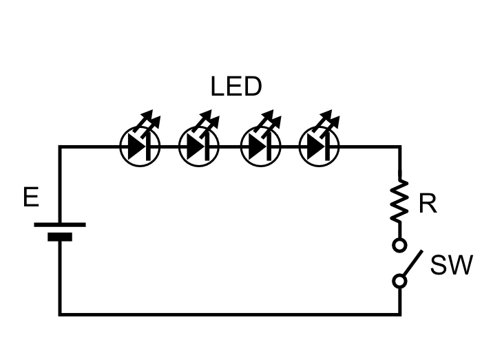 「LED照明」直列方式