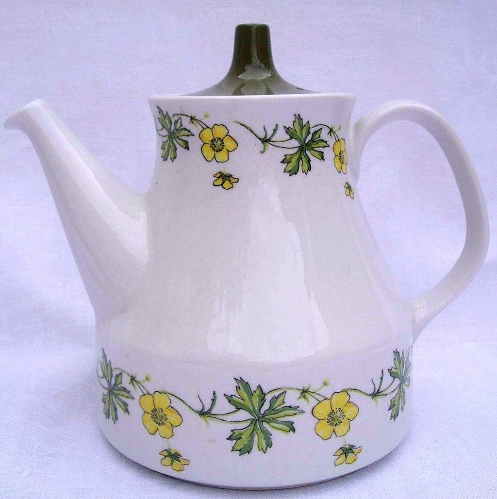 陶器製のティーポット