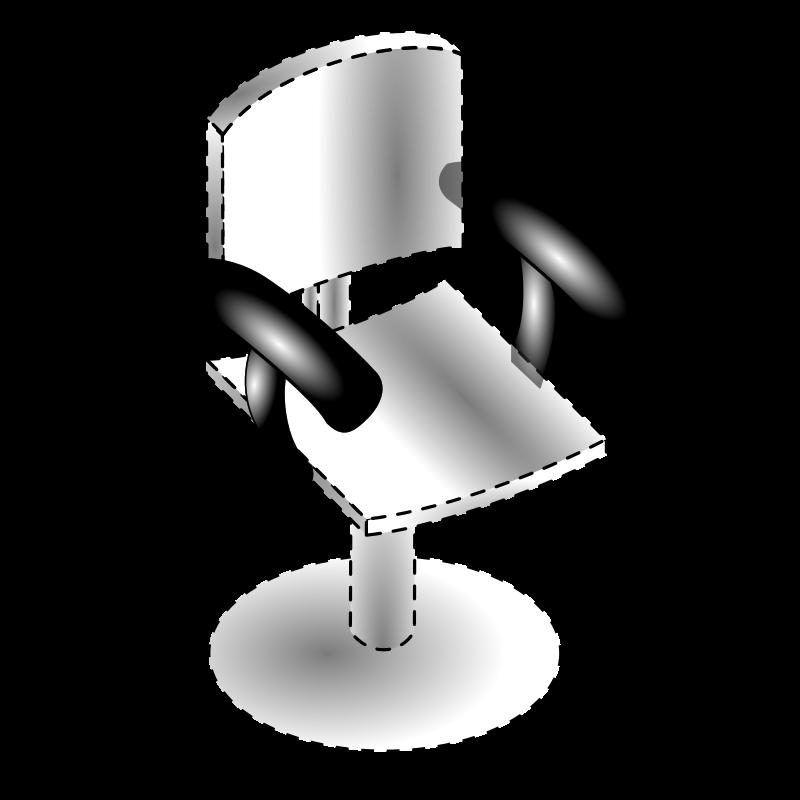 肘掛けと椅子(点線)