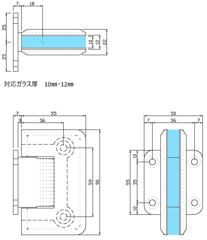 寸法図 B8202