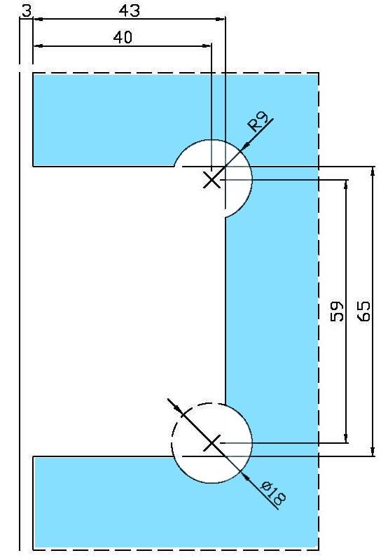 ガラス切り欠き図 B8202