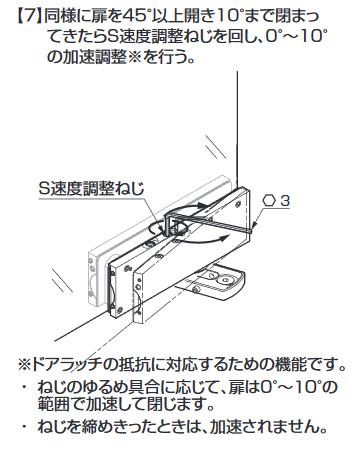 ソフトクロージング機構付下部コーナー金具M101E10型.取付説明.コーナー金具の取付け7