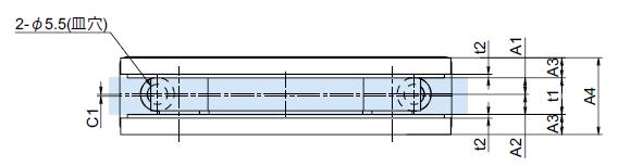 OT-B570-SUS図面寸法
