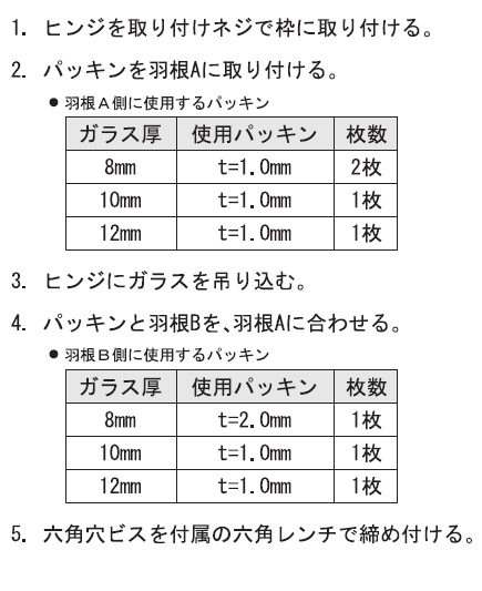 OT-B570-SUS枠への取付け