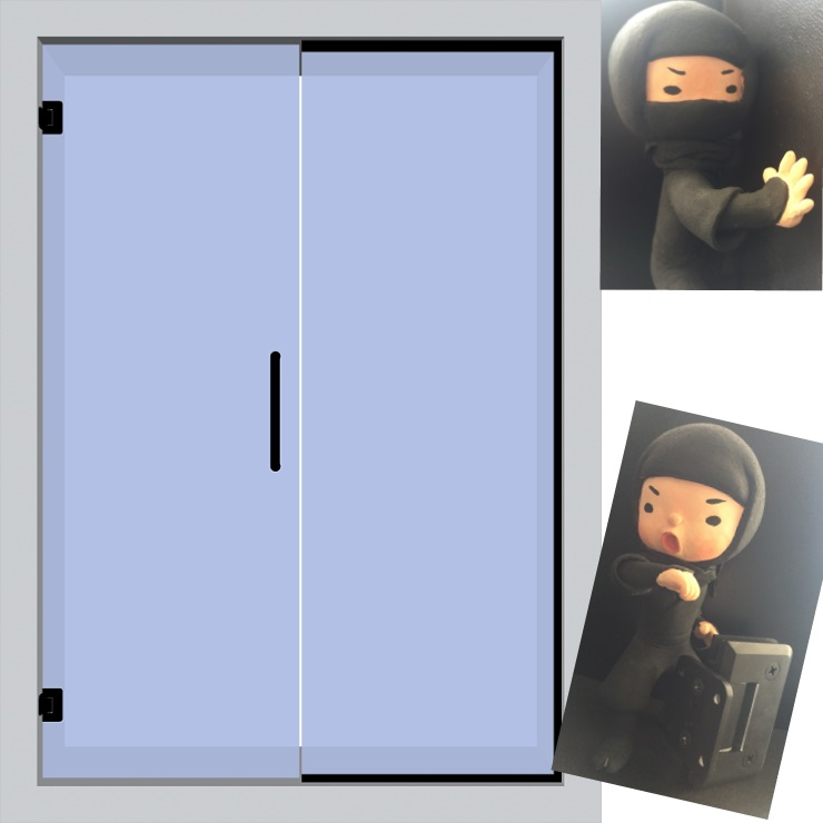 blacky-hing片開き戸+FIXイメージ図