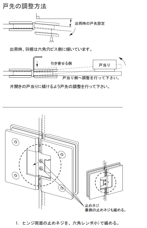 戸先の調整方法1