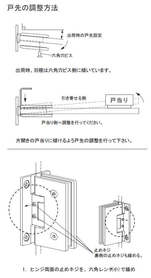 戸先の調整方法