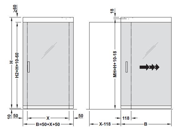 Design 80-M Sliding door寸法