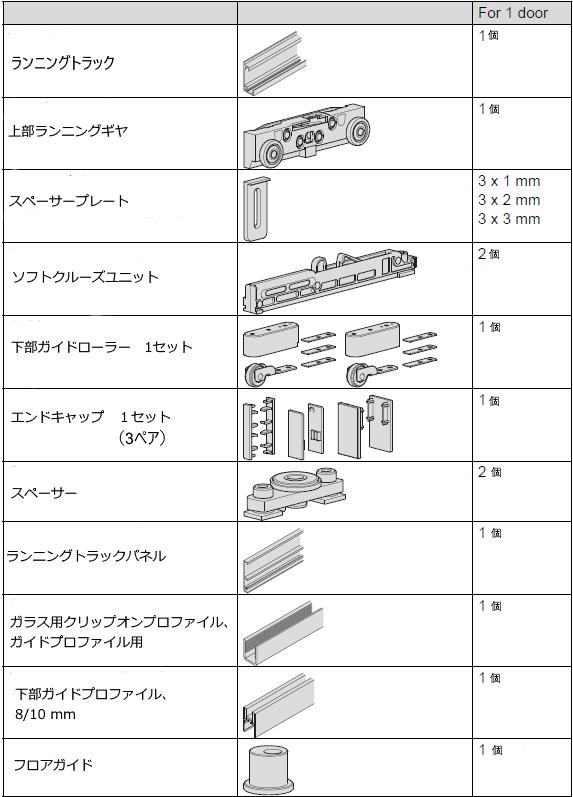 Design 80-M Sliding doorデザイン80-Mセット