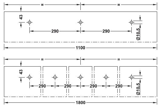 Design 80-M Sliding door穴あけパターン