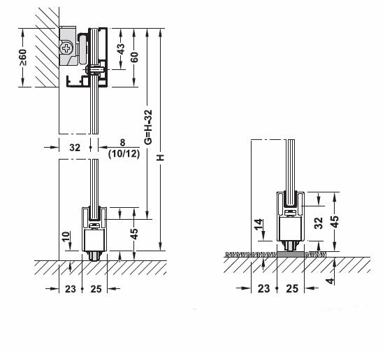 Design 80-M Sliding door設置