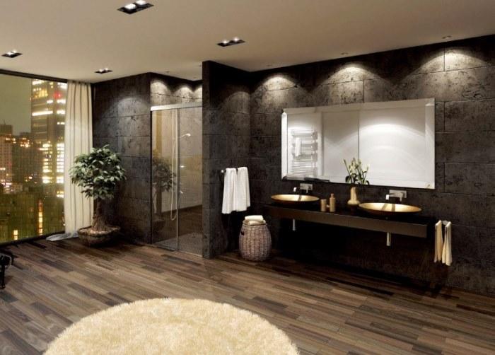 シャワーブース用引戸 両側壁取付/1枚扉+固定ガラス仕様図