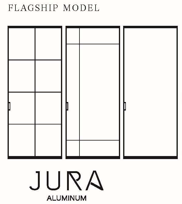 ブラック格子ガラス引戸「JURA(ジュラ)」
